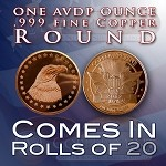 One Ounce Rounds: Eagle with Stars