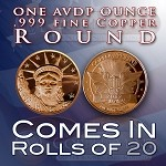 One Ounce Rounds: Statue of Liberty