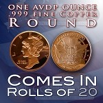 One Ounce Rounds: Mercury Head Dime