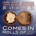 One Ounce Rounds: Morgan Head