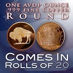 One Ounce Rounds: Buffalo