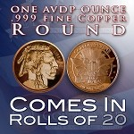 One Ounce Rounds: Indian Head